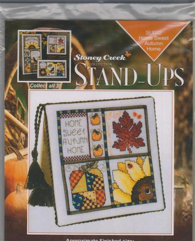 click here to view larger image of Home Sweet Autumn Home - Stand Ups (chart with charms/buttons)