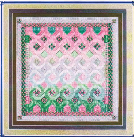 click here to view larger image of Glitz & Glamour Tourmaline (Watermelon) (counted canvas chart)