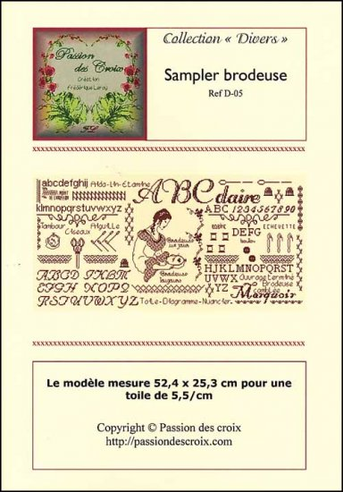click here to view larger image of Sampler Brodeuse (chart)