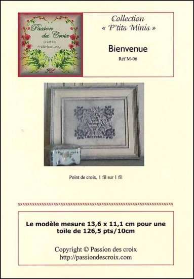 click here to view larger image of Bienvenue (Welcome) (chart)