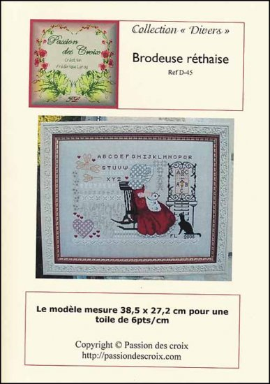 click here to view larger image of Brodeuse Rethaise  (chart)