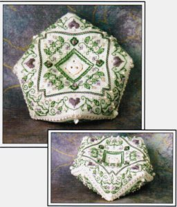 click here to view larger image of Let's Get Fancy Biscornu (counted cross stitch kit)