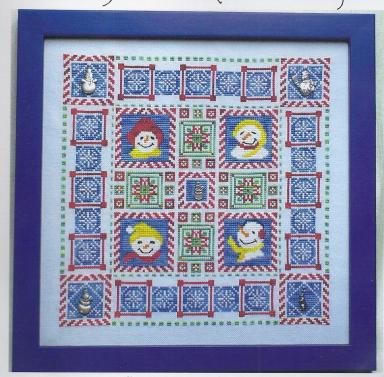 click here to view larger image of Snowman Quilt (chart with charms/buttons)