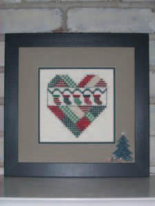 click here to view larger image of Christmas Stockings Heart (chart)