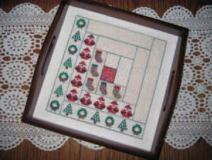 click here to view larger image of Christmas Log Cabin Quilt Square (chart)