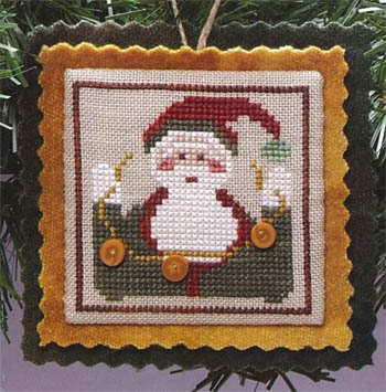 click here to view larger image of Bauble - Nicky Santa (chart with charms/buttons)