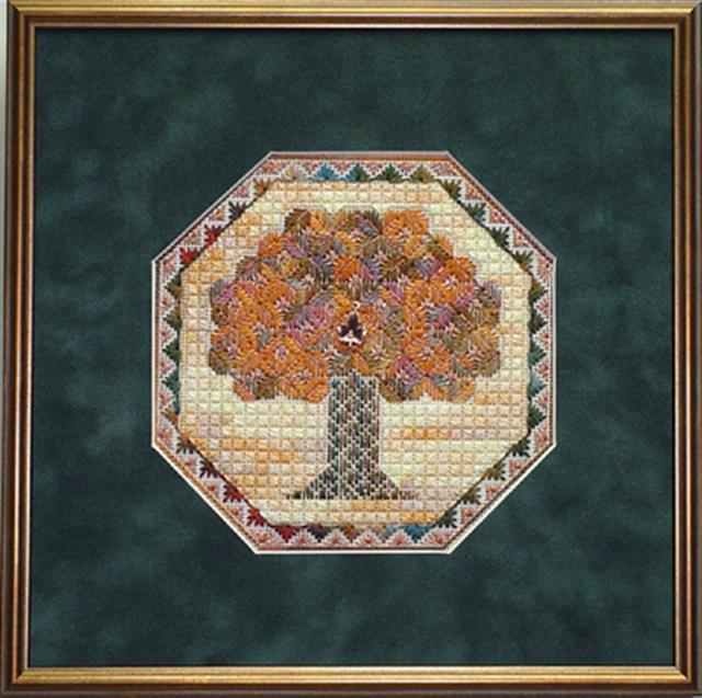 click here to view larger image of Autumn Jewel Needlepoint (one charm included) (counted canvas chart)