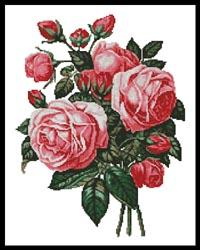 click here to view larger image of Bouquet of Pink Roses (chart)