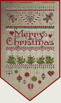 click here to view larger image of Merry Christmas Banner  (chart)
