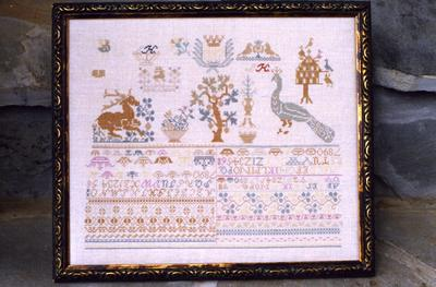 click here to view larger image of HSM 1805 - A German Sampler (chart)