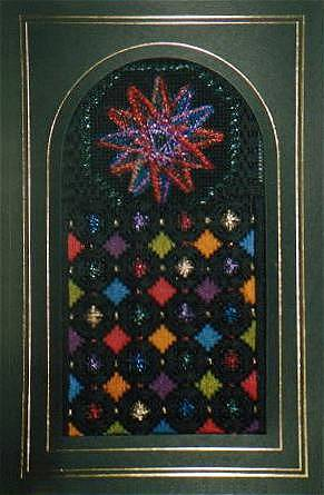 click here to view larger image of Stained Glass Ornament 3 (counted canvas chart)