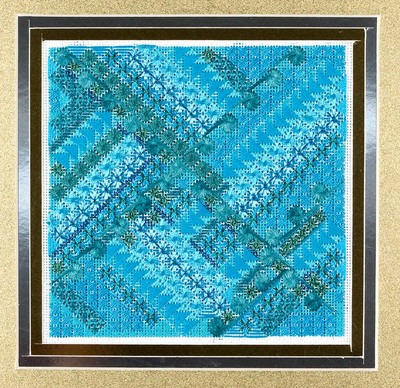 click here to view larger image of Glitz & Glamour Turquoise (counted canvas chart)