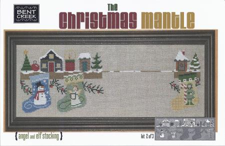 click here to view larger image of Christmas Mantle (Part two) - Angel and Elf Stocking (counted cross stitch kit)