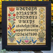 click here to view larger image of Fraktur Alphabet Sampler (chart)