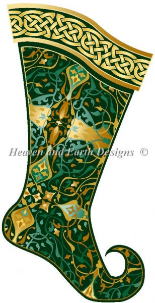 click here to view larger image of Emerald Christmas Stocking (chart)
