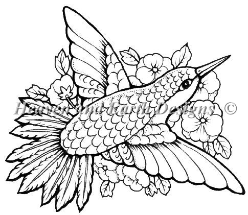 click here to view larger image of Hummingbird  - Quick Stitch (chart)