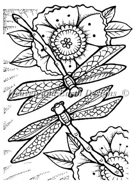 click here to view larger image of Dragonflies  - Quick Stitch (chart)