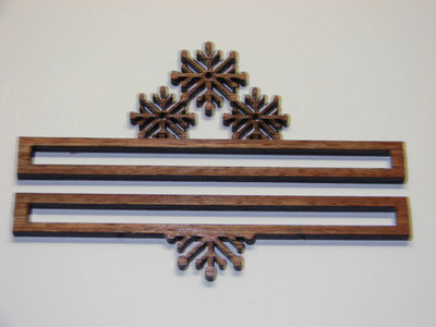 click here to view larger image of Snowflake Bell Pull  (4 inch) (accessory)