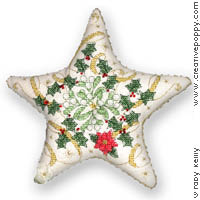 click here to view larger image of Christmas Star Ornament (chart)