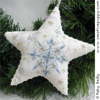 click here to view larger image of Frosty Star Ornament (chart)