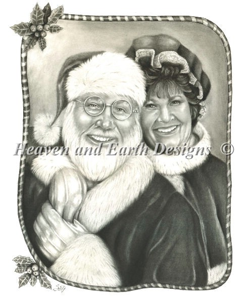 click here to view larger image of Mr and Mrs Claus (chart)