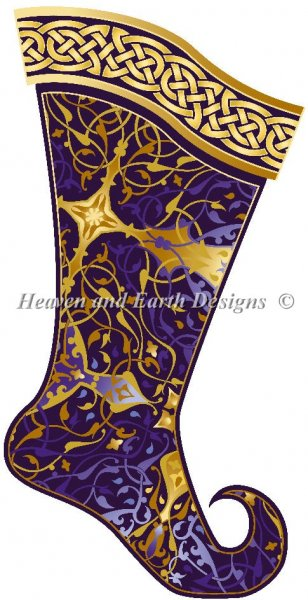 click here to view larger image of Amethyst Christmas Stocking (chart)