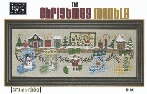 click here to view larger image of Christmas Mantle (Part Three) - Santa and the Reindeer (counted cross stitch kit)