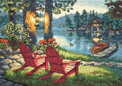 click here to view larger image of Twilight's Calm (counted cross stitch kit)