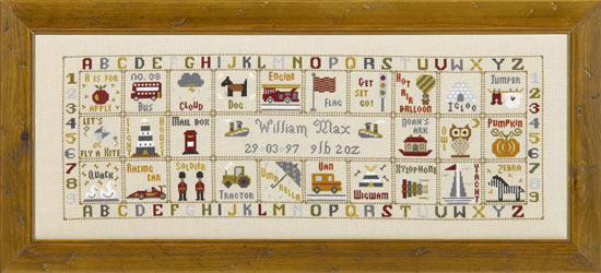 click here to view larger image of Just For A Boy (KIT) (counted cross stitch kit)
