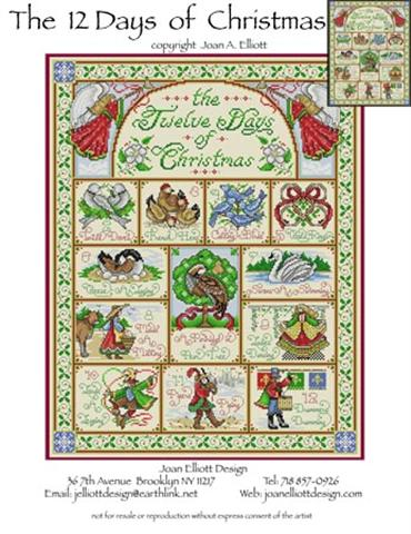 click here to view larger image of Twelve Days of Christmas (counted cross stitch kit)