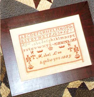 click here to view larger image of Mabel Lee Reproduction Sampler (chart)