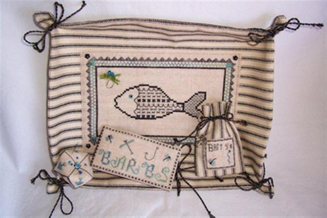 click here to view larger image of Days Catch-All Sewing Set (counted cross stitch kit)
