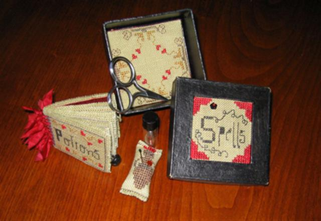 click here to view larger image of Hazel's Spell Box (counted cross stitch kit)