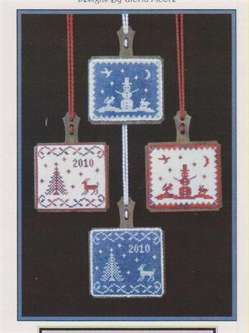 click here to view larger image of Yuletide Hornbooks (counted cross stitch kit)