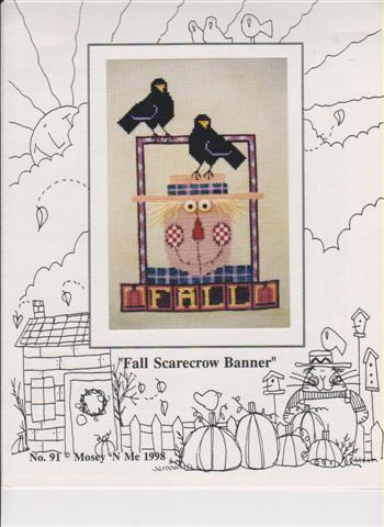 click here to view larger image of Fall Scarecrow Banner (chart)
