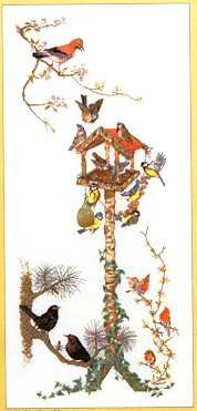click here to view larger image of Bird Feeder - Aida (counted cross stitch kit)