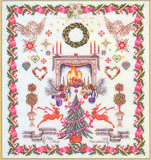 click here to view larger image of Christmas Sampler - Aida (counted cross stitch kit)