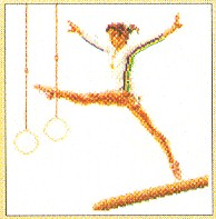 click here to view larger image of Gymnast - Aida (counted cross stitch kit)