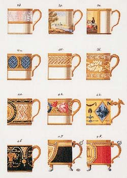 click here to view larger image of Ornamental Cups - Aida (counted cross stitch kit)
