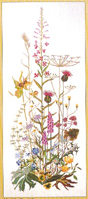 click here to view larger image of Roadside Garden - Aida (counted cross stitch kit)