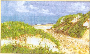 click here to view larger image of Seascape - Sand Dunes - Aida (counted cross stitch kit)
