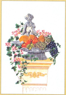 click here to view larger image of Statue In Fruits & Vegetables - Aida (counted cross stitch kit)
