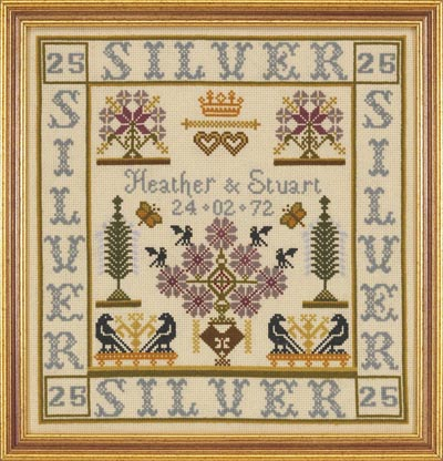 click here to view larger image of Silver Anniversary (Kit) (counted cross stitch kit)
