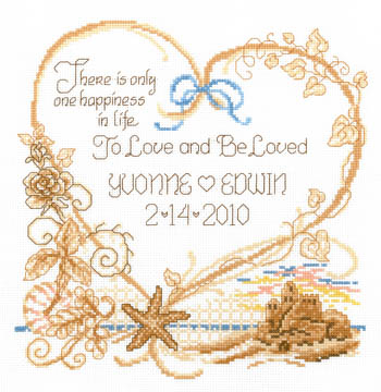 click here to view larger image of Seaside Wedding - Kit (counted cross stitch kit)