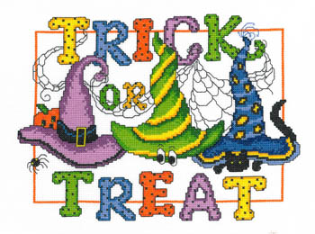 click here to view larger image of Trick Or Treat - Kit (counted cross stitch kit)