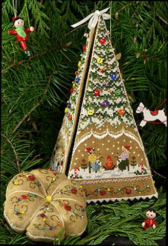 click here to view larger image of Gingerbread Tree Etui Main Accessory Pack (chart)