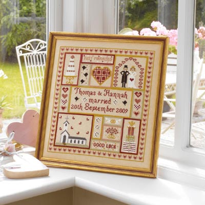 click here to view larger image of Wedding Patchwork Sampler (Chart) (chart)