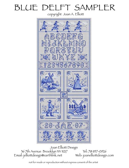 click here to view larger image of Delft Blue Sampler (chart)
