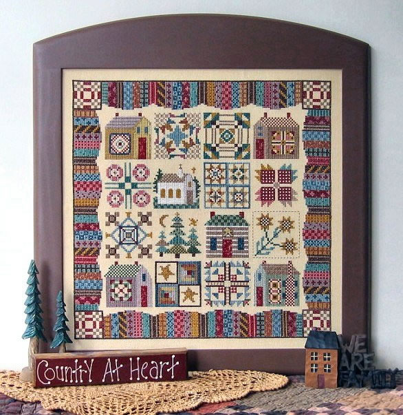 click here to view larger image of Calico Village Quilt (Sampler XVI) (chart)