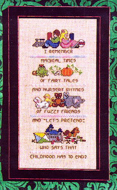 click here to view larger image of Childhood Memories Sampler (chart)